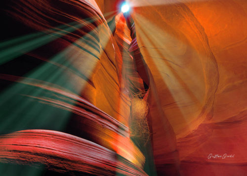Antelope Canyon Canvas Wall Art Handmade – 24 x 36 inches (60 x 90 cm) – Unframed – Signed by Artist