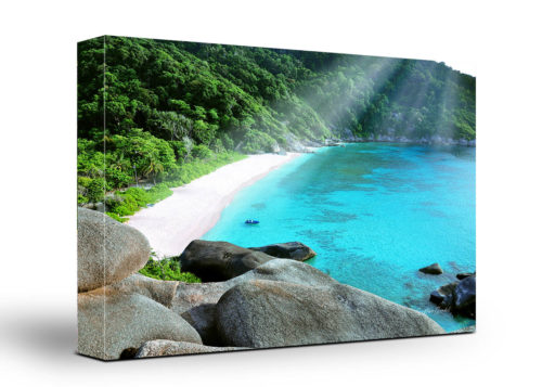 Thailand Beach Canvas Wall Art Handmade – 24 x 36 inches (60 x 90 cm) – Unframed – Signed by Artist