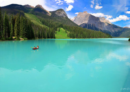 Mountain Lake Canvas Wall Art Handmade – 24 x 36 inches (60 x 90 cm) – Unframed – Signed by Artist