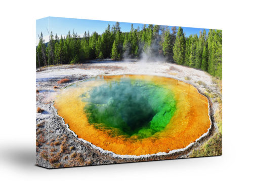 Yellowstone Canvas Wall Art Handmade – 24 x 36 inches (60 x 90 cm) – Unframed – Signed by Artist