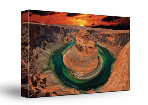 Grand Canyon Canvas Wall Art Handmade – 24 x 36 inches (60 x 90 cm) – Unframed – Signed by Artist