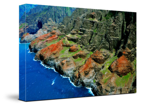 Hawaii Coast Canvas Wall Art Handmade – 24 x 36 inches (60 x 90 cm) – Unframed – Signed by Artist
