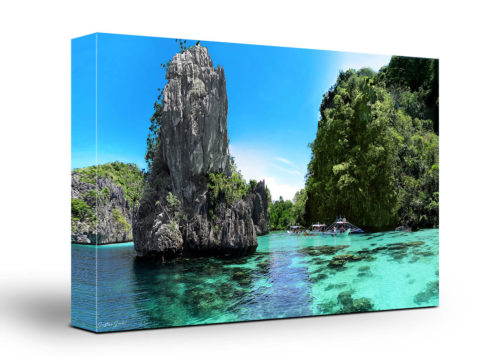 Philippines Island Beach Canvas Wall Art Handmade – 24 x 36 inches (60 x 90 cm) – Unframed – Signed by Artist