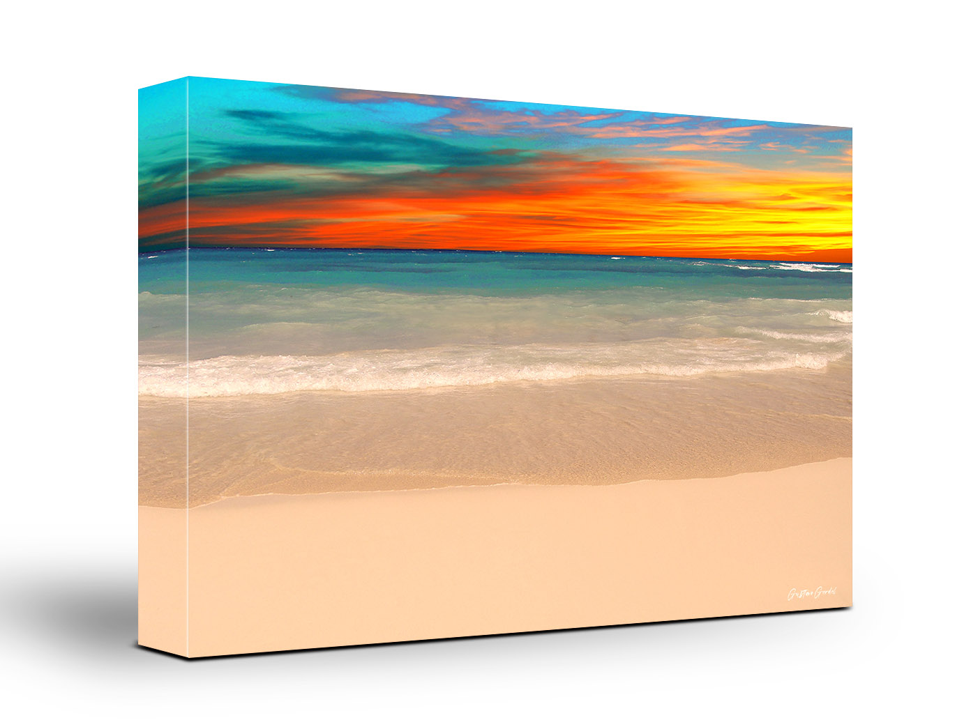 Caribbean Beach Sunset Wall Art