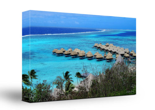 Polinesian Beach Canvas Wall Art Handmade – 24 x 36 inches (60 x 90 cm) – Unframed – Signed by Artist