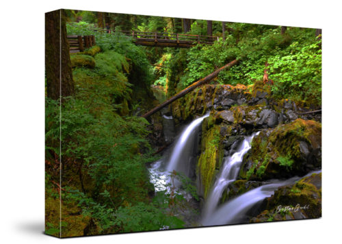 Water Falls Canvas Wall Art Handmade – 24 x 36 inches (60 x 90 cm) – Unframed – Signed by Artist