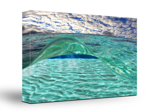 Underwater Wave Canvas Wall Art Handmade – 24 x 36 inches (60 x 90 cm) – Unframed – Signed by Artist